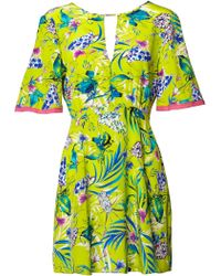 Matthew Williamson | Lime Marble Nature Silk Dress | Lyst