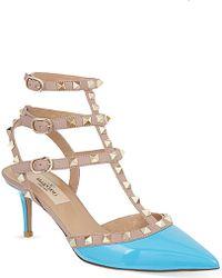 Valentino Rockstud 65 Tbar Heeled Sandals - For Women - Lyst