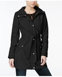 Jessica Simpson - Water-resistant Hooded Soft Shell Raincoat - Lyst