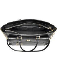 La Martina - La Portena Black Saffiano Leather Large Handbag - Lyst