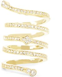 BCBGMAXAZRIA Pave Looped Ring - Lyst