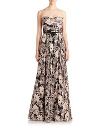 Notte by Marchesa Strapless Sequined-Embroidery Gown black - Lyst