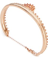 Joelle Jewellery - 18K Pink Gold Bangle - Lyst