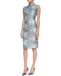 O'2nd Printed Jacquard Sleeveless Shirtdress - Lyst