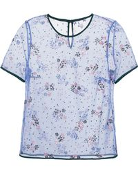 Mary Katrantzou Tulle Top With Floral Sequins - Lyst