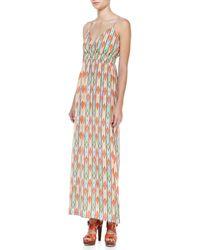 Cusp Soft Printed Maxi Dress Aztec Xs - Lyst