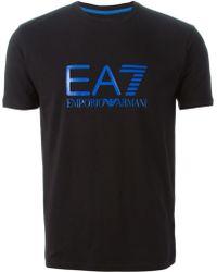 Emporio Armani Logo Print T-shirt - Lyst