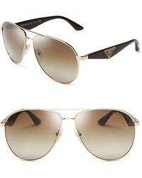Prada Double Bar Aviator Sunglasses - Lyst