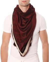 Alexander McQueen Mens Woven Skull-Print Triangle Scarf - Lyst
