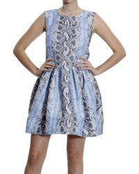 Ermanno Scervino Dresses Sleeveless Rete Tecnica Print Python Print - Lyst