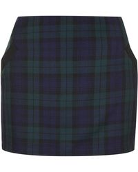 Topshop Tall Checked Skirt - Lyst