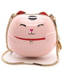 Kate Spade Hello Tokyo Lucky Cat Minaudiere  Pink - Lyst