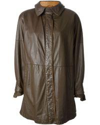 Gianfranco Ferré Vintage Buttoned Coat - Lyst