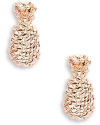 Bing Bang - Pineapple 14k Yellow Gold Stud Earrings - Lyst
