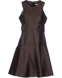 Carven Short Dress brown - Lyst