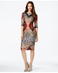 Eci - Mixed-print Bodycon Dress - Lyst