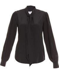 Alice By Temperley Tuxedo Bow Shirt - Lyst