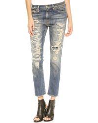R13 Shredded Slouchy Skinny Jeans  - Lyst