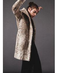 The Row | Grey Melange Brotan Coat | Lyst