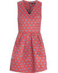 Markus Lupfer Smacker Lip Print Kat Dress - Lyst