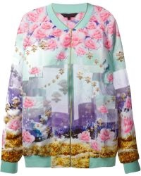 Manish Arora Rose Print Embellished Jacket - Lyst
