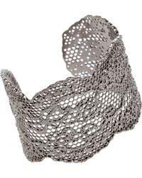 Aurelie Bidermann Lace Cuff silver - Lyst