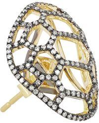 Venyx - Tortuga 9-Karat Gold Diamond Earrings - Lyst