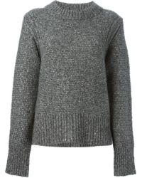 Sea Boxy Knitted Sweater - Lyst