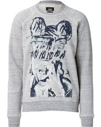 Marc Jacobs Cotton Printed Sweatshirt gray - Lyst