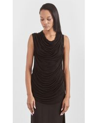 Helmut Lang Jersey Cowl Top - Lyst