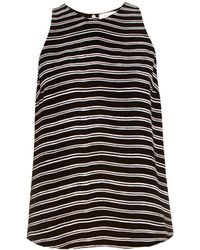 A.L.C. Anise Striped Silk-Crepe Top - Lyst