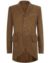 Ralph Lauren Blue Label - Belia Suede Riding Jacket - Lyst