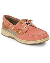 Sperry Rainbowfish Leather  Fabric Boat Shoes - Lyst