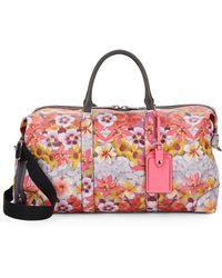 Rebecca Minkoff - Floral-print Leather Weekender Bag - Lyst