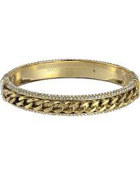 Michael Kors Two-tone Curb Chain Hinge Bangle - Lyst