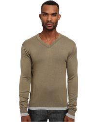 Michael Kors Tipped V-Neck Sweater - Lyst