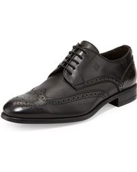 Bruno Magli Saffyn Lace-Up Wingtip - Lyst