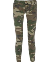 Textile Elizabeth And James Ozzy Camouflage-print Mid-rise Skinny Jeans - Lyst