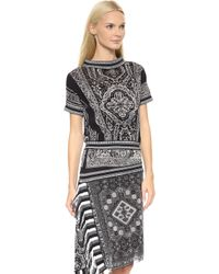 Jean Paul Gaultier Printed Dress Black - Lyst