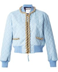 Moschino Quilted Bomber Jacket - Lyst
