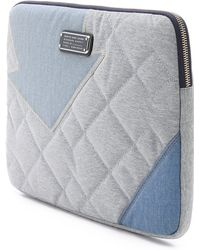 """Marc By Marc Jacobs - Crosby Quilt Denim 13"""" Computer Case - Pacific Ocean Chambray Multi - Lyst"""