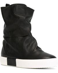 Giuseppe Zanotti - Fergie Leather Slip-On Trainer Boots - Lyst