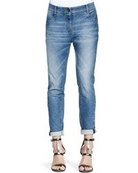 Brunello Cucinelli Bias-cut Denim Jeans - Lyst