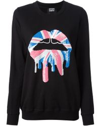 Markus Lupfer Sequin Embellished Sweatshirt - Lyst