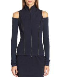 Donna Karan New York Leather-Trimmed Vest - Lyst
