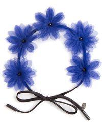 Gigi Burris Shadow Floral Headband - Lyst