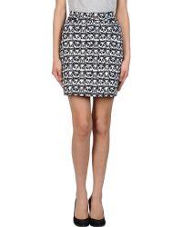 Jeremy Scott Mini Skirt - Lyst