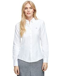 Brooks Brothers Non-iron Tailored Fit Oxford Dress Shirt - Lyst