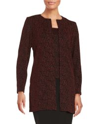 Alex Evenings - Patterned Shimmer Tank And Cardigan Set - Lyst