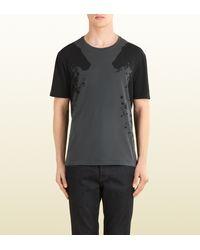 Gucci Equestrian Print Cotton Jersey T-Shirt - Lyst